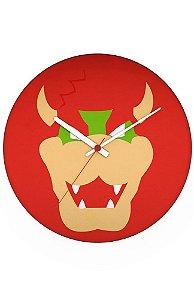 Relógio de Parede Super Mario - Dragão - Nerd e Geek - Presentes Criativos