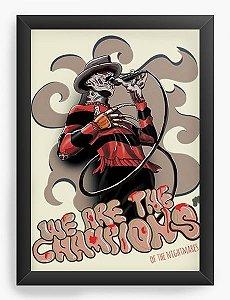 Quadro Decorativo Freddy Skull - Nerd e Geek - Presentes Criativos