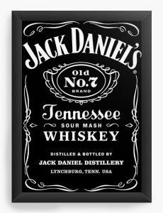 Quadro Decorativo A4 (33X24) Jack Daniels - Nerd e Geek - Presentes Criativos