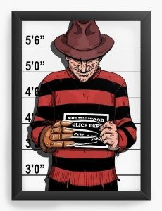 Quadro Decorativo Freddy Krueger - Nerd e Geek - Presentes Criativos