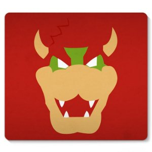 Mouse Pad Super Mario - Bowser 23x20 - Nerd e Geek - Presentes Criativos