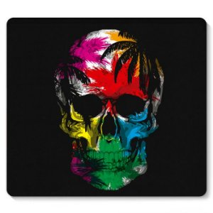 Mouse Pad Super Skull 23x20 - Nerd e Geek - Presentes Criativos