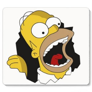 Mouse Pad Homer Simpsons 23x20 - Nerd e Geek - Presentes Criativos