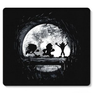 Mouse Pad Super Mario, Sonic e Crash  23x20 - Nerd e Geek - Presentes Criativos