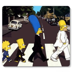 Mouse Pad Familia Simpsons 23x20 - Nerd e Geek - Presentes Criativos