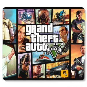 Mouse Pad Grand Theft Auto 23x20 - Nerd e Geek - Presentes Criativos