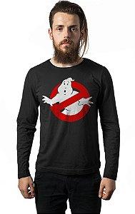 Camiseta Masculina  Manga Longa Caças Fantasmas - Nerd e Geek - Presentes Criativos