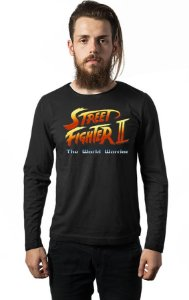 Camiseta Masculina  Manga Longa Street Fighter - Nerd e Geek - Presentes Criativos