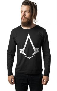 Camiseta Masculina  Manga Longa Assassin's Creed - Nerd e Geek - Presentes Criativos
