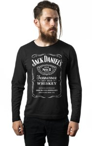 Camiseta Masculina  Manga Longa Jack Daniels - Nerd e Geek - Presentes Criativos