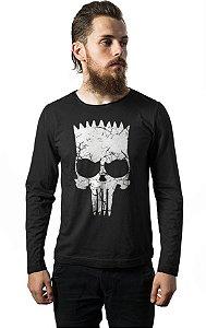 Camiseta Manga Longa Simpson Punisher