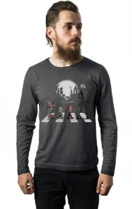 Camiseta Masculina  Manga Longa Disco Jack Skellington - Nerd e Geek - Presentes Criativos