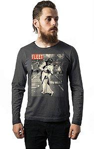 Camiseta Manga Longa Han Solo e Princesa Leia