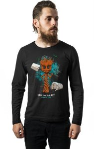 Camiseta Manga Longa Save The Galaxy