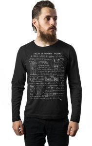 Camiseta Masculina  Manga Longa Theory of Relativity - Nerd e Geek - Presentes Criativos
