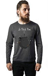 Camiseta Masculina  Manga Longa Le Petit Roi - Nerd e Geek - Presentes Criativos
