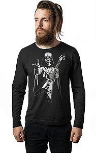 Camiseta Manga Longa Darth Vader Rock Star