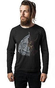 Camiseta Masculina  Manga Longa Caverna do Dragão - Vingador - Nerd e Geek - Presentes Criativos