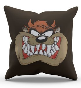 Almofada Decorativa  Taz 45x45 - Nerd e Geek - Presentes Criativos