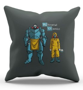 Almofada Decorativa  Fullmetal Chemist 45x45 - Nerd e Geek - Presentes Criativos