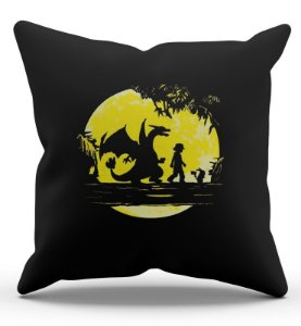 Almofada Decorativa  Pokemon Ash e Pikachu 45x45 - Nerd e Geek - Presentes Criativos