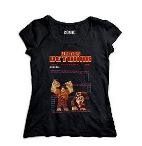 Camiseta Feminina Donkey Kong - Nerd e Geek - Presentes Criativos