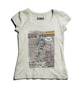 Camiseta Feminina Que Físico - Nerd e Geek - Presentes Criativos