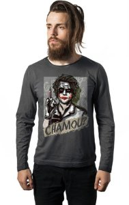 Camiseta Masculina  Manga Chamou? - Nerd e Geek - Presentes Criativos