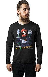 Camiseta Manga Longa Super Mario Encanador