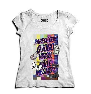 Camiseta Feminina O Jogo - Nerd e Geek - Presentes Criativos