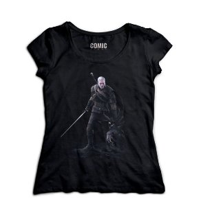 Camiseta Feminina The Witcher 3 - Nerd e Geek - Presentes Criativos