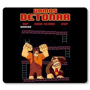Mouse Pad Vamos Detonar Donkey Kong - Nerd e Geek - Presentes Criativos