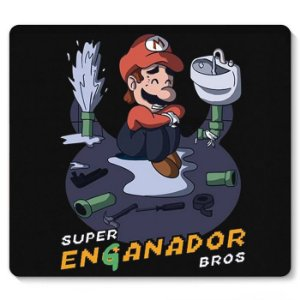 Mouse Pad Super Mario Enganador - Nerd e Geek - Presentes Criativos