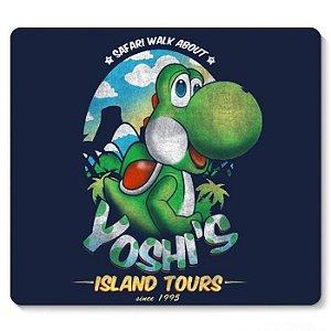 Mouse Pad Yoshi's Island Tours - Nerd e Geek - Presentes Criativos