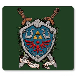 Mouse Pad Escudo The Legend of Zelda - Nerd e Geek - Presentes Criativos