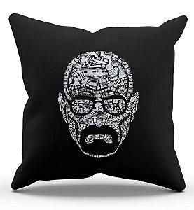 Almofada Decorativa  Breaking Bad - Heisenberg 45x45 - Nerd e Geek - Presentes Criativos
