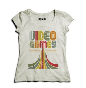 Camiseta Feminina Video Games - Nerd e Geek - Presentes Criativos
