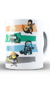 Caneca Anime Pokemon Kombat - Nerd e Geek - Presentes Criativos