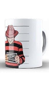 Caneca Freddy Krueger Usual Suspect - Nerd e Geek - Presentes Criativos