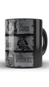Caneca Star Wars The Good The Bad and The Wookiee