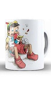 Caneca Pinocchio and Woody Woodpecker