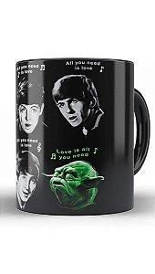 Caneca The Beatles e Yoda - Star Wars
