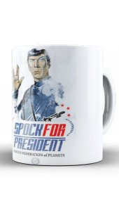 Caneca Spock For President - Nerd e Geek - Presentes Criativos