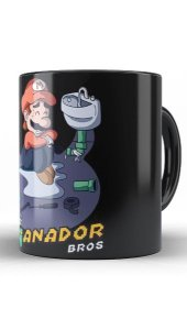 Caneca Super Mario Enganador Bros - Nerd e Geek - Presentes Criativos