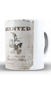 Caneca Wanted - Pica Pau - Nerd e Geek - Presentes Criativos