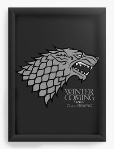 Quadro Decorativo Game of Thrones - Nerd e Geek - Presentes Criativos
