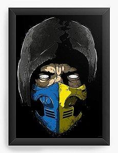 Quadro Decorativo A4 (33X24)  Scorppion Mortal Kombat - Nerd e Geek - Presentes Criativos