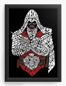 Quadro Decorativo A4 (33X24) Assassin's Creed - Nerd e Geek - Presentes Criativos
