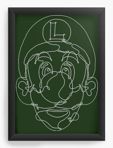 Quadro Decorativo Luigi - Nerd e Geek - Presentes Criativos