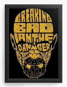 Quadro Decorativo A4 (33X24) Breaking Bad - Nerd e Geek - Presentes Criativos
